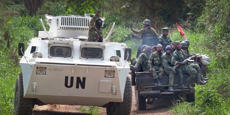Des troupes de la MONUSCO et des FARDC dans les opérations autour de Beni en 2014.