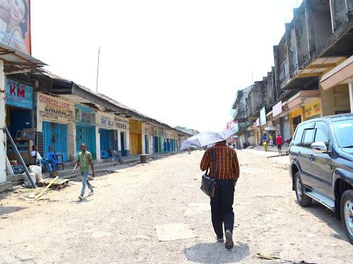 Le marché centrale de Kinshasa, journée de ville morte (Radio Okapi)