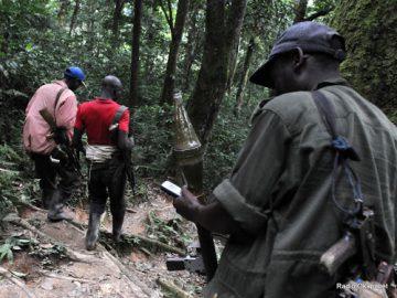 Des soldats Rebel de FDLR à l'Est de la RDC le 06/02/2009. Radio Okapi.net
