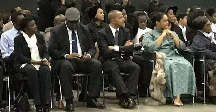 Cecile Kyenge, Felix Tshisekedi et Moise Katumbi au deuil d'Etienne Tshisekedi