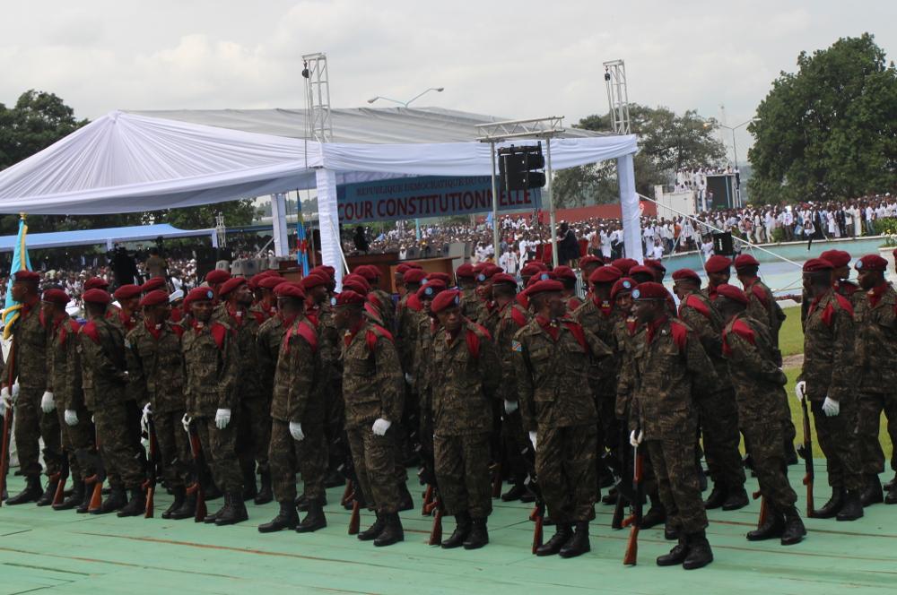 Des militaires congolais, le 24 janvier 2019, à Kinshasa.