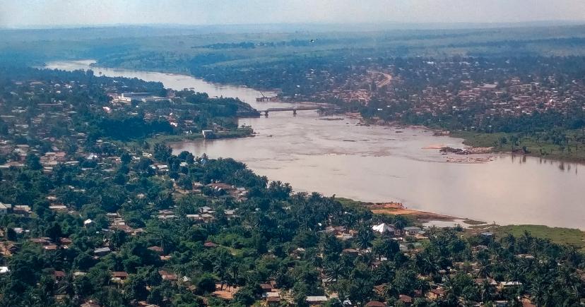 Aerial view of Tshikapa.
