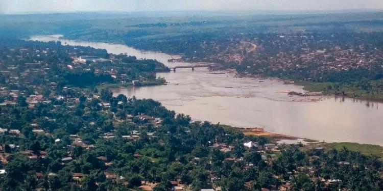 Vue aérienne de Tshikapa